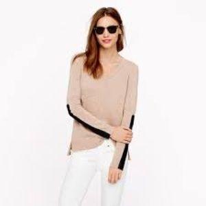 J Crew Women V Neck sweater Sz XL Cashmere Blend